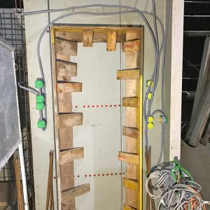 Construction Diary: Use The Deep Wall Boxes For The Buttons/switches