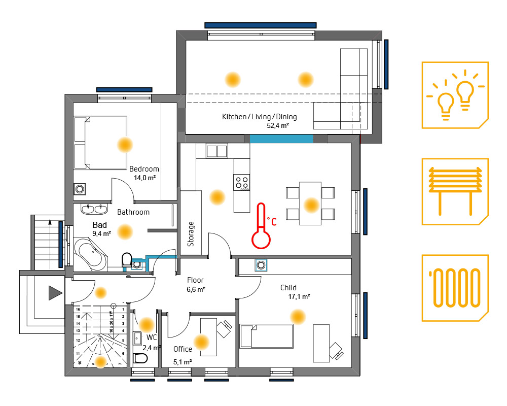 Cost Comparison: Lighting + Roller Blinds + Heating
