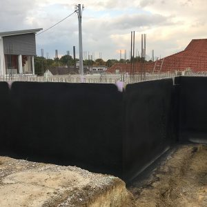 Construction Diary: The Basement Walls Have Been Concreted And Treated With An External Wall Seal For Basements