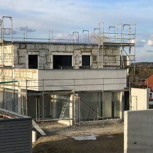 Construction Diary: A View From The South West Of Our Insulated Home