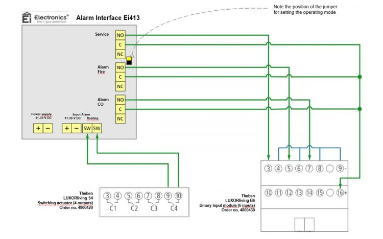 Wiring Diagram Ei413 To LUXORliving B6