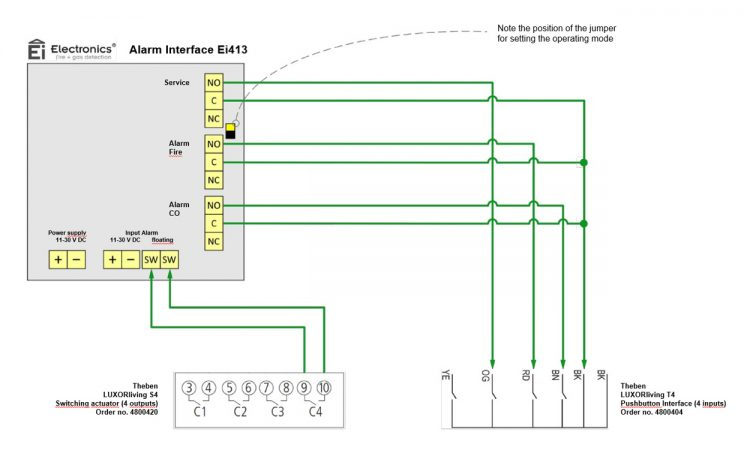 Wiring Diagram Ei413 To LUXORliving T4
